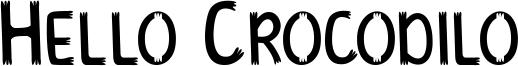 Hello Crocodilo Font