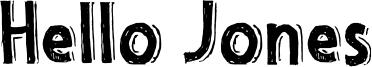 Hello Jones Font