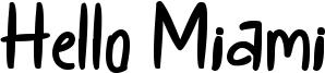 Hello Miami Font
