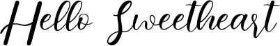 Hello Sweetheart Font