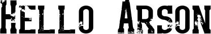 Hello Arson Font