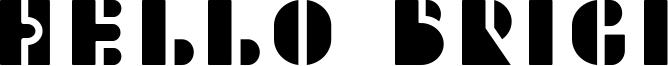 Hello Brigi Font