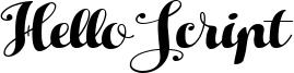 Hello Script Font