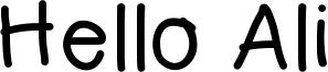Hello Ali Font