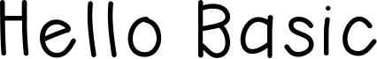 Hello Basic Font