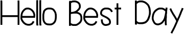 Hello Best Day Font