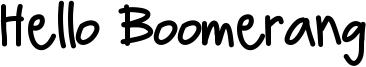Hello Boomerang Font