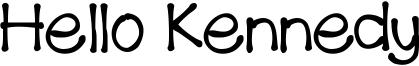 Hello Kennedy Font