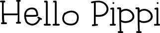 Hello Pippi Font