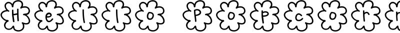 Hello Popcorn Font