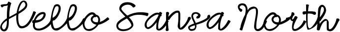 Hello Sansa North Font