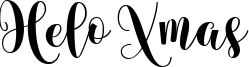 Helo Xmas Font