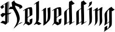 Helvedding Font