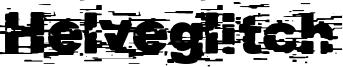 Helveglitch Font