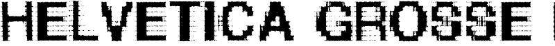 Helvetica Grosse Bit Font