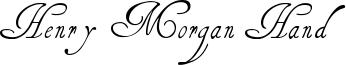 Henry Morgan Hand Font