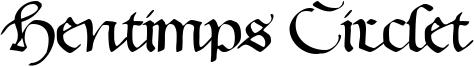 Hentimps Circlet Font