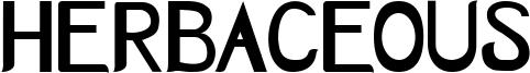 Herbaceous Font