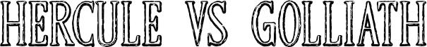 Hercule VS Golliath Font