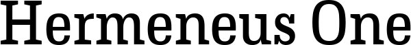 Hermeneus One Font