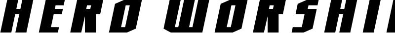 Hero Worship Font