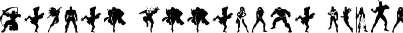 Heroes Assemble Dingbats Font