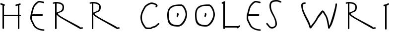 Herr Cooles Writing Font