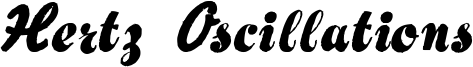 Hertz Oscillations Font