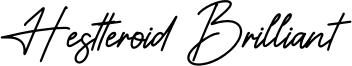 Hestteroid Brilliant Font