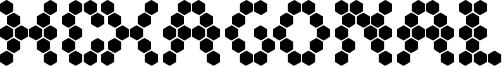 Hexagonal Font