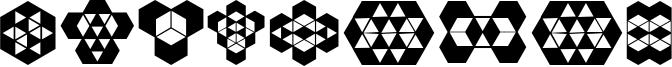 Hexagonos Font