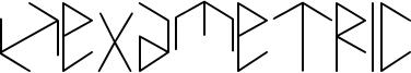 Hexametric Font