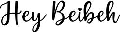 Hey Beibeh Font