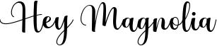 Hey Magnolia Font