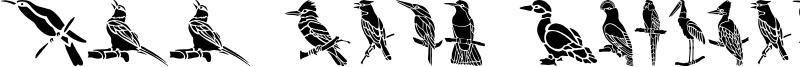HFF Bird Stencil.otf