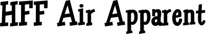 HFF Air Apparent Font
