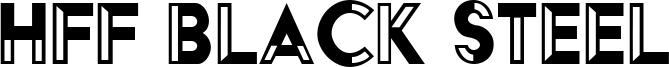 HFF Black Steel Font