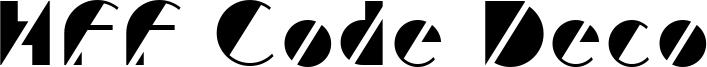 HFF Code Deco Font