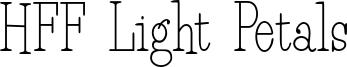 HFF Light Petals Font