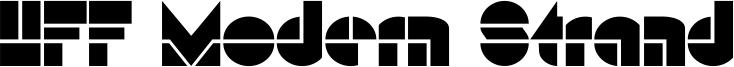 HFF Modern Strand Font