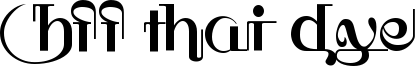 HFF Thai Dye Font