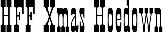 HFF Xmas Hoedown Font