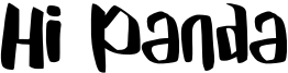 Hi Panda Font