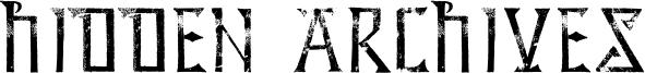 Hidden Archives Font