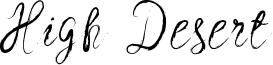 High Desert Font