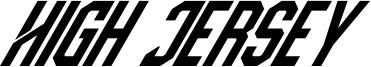 High Jersey Font