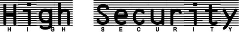 High Security Font