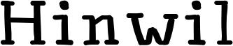 Hinwil Font