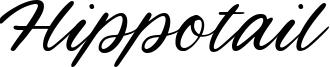 Hippotail Font