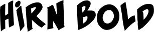 Hirn Bold Font